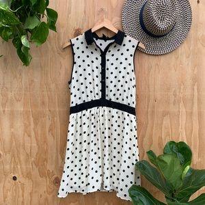 3/$25 F21 Polka Dot Sleeveless Color Dress